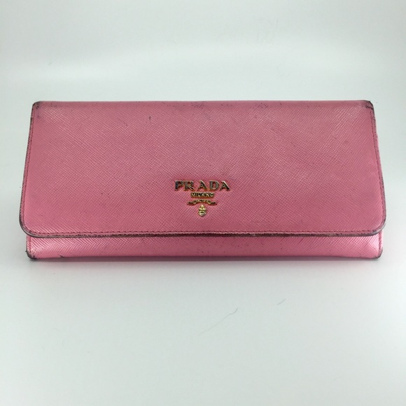 87d4328eba2e56 Prada Bags | Pink Wallet | Poshmark